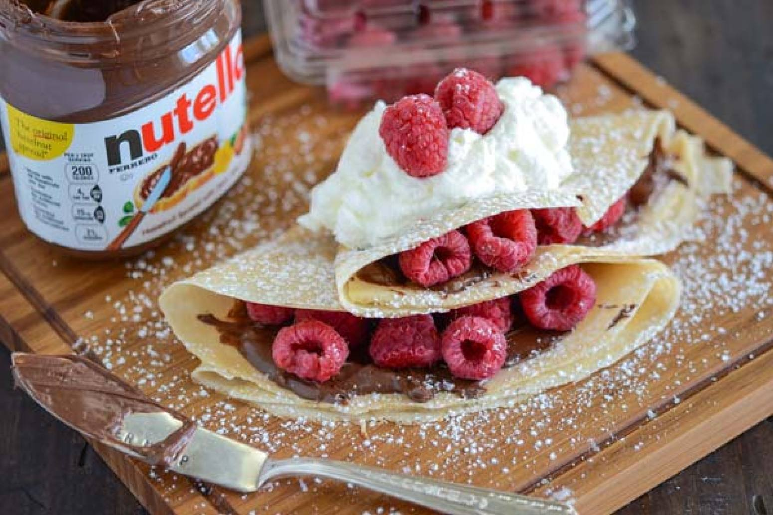 Raspberry Nutella Crepes Recipe | Just A Pinch Recipes