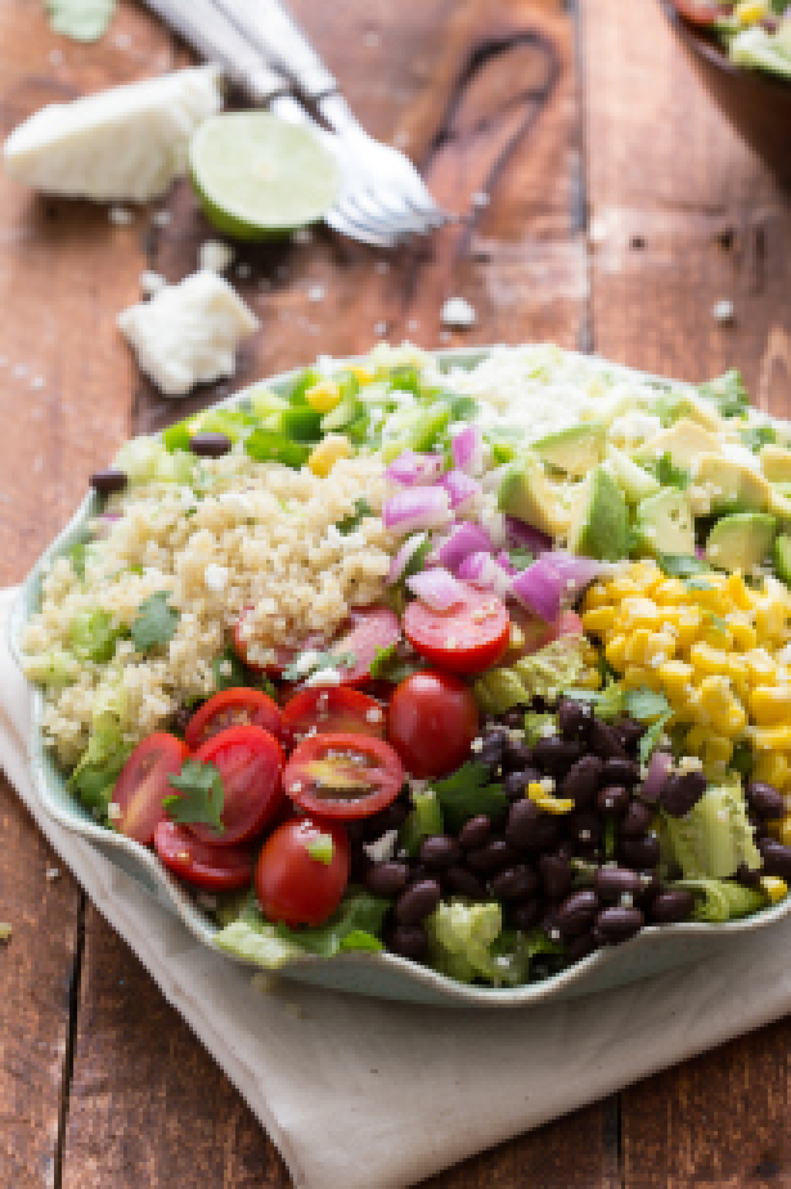Tex Mex Quinoa Salad with a Cilantro-Lime Vinaigrette Recipe | Just A ...