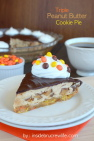 Triple Peanut Butter Cookie Pie Recipe
