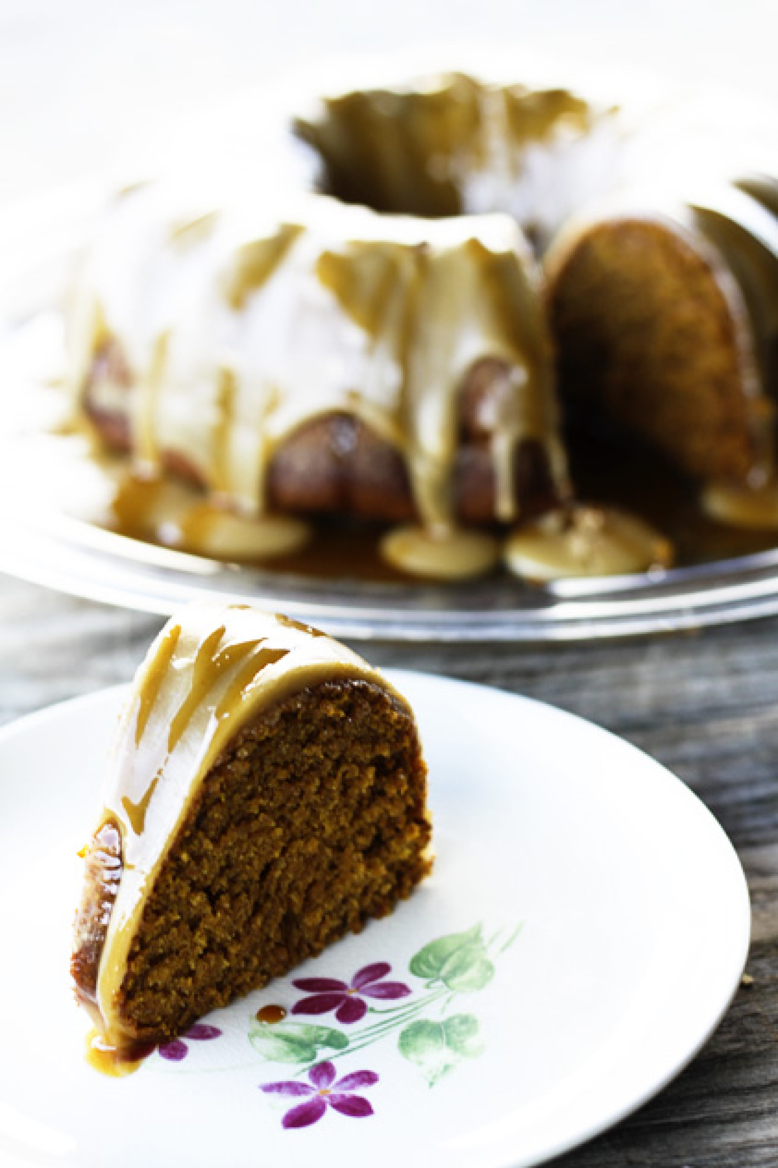 Pumpkin Cake with Maple Frosting and Apple Cider Caramel Recipe | Just ...