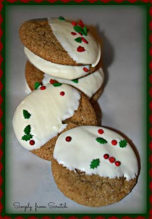 Festive Ginger Molasses Cookies Recipe