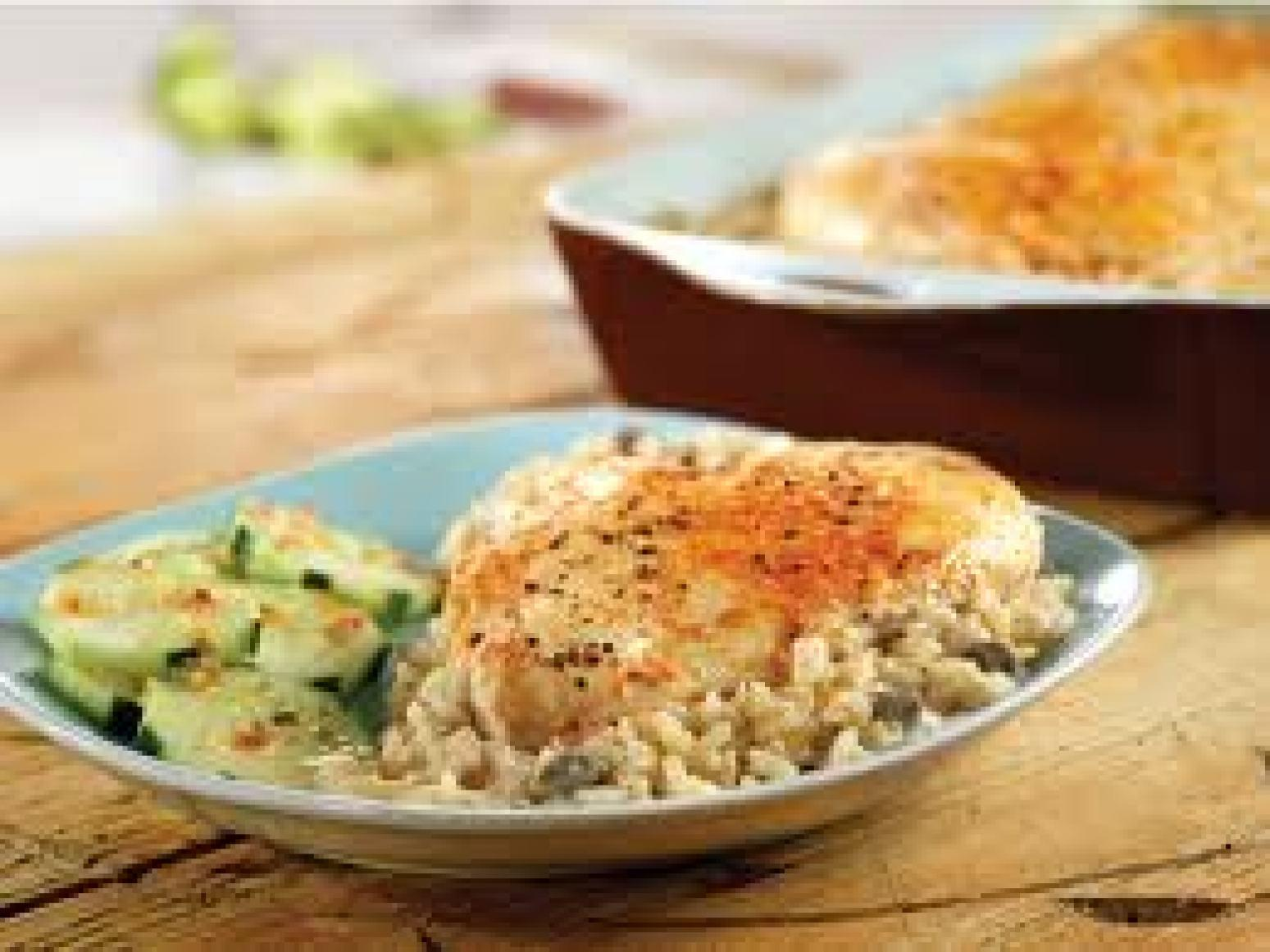 EASY BAKED CHICKEN WITH RICE Recipe