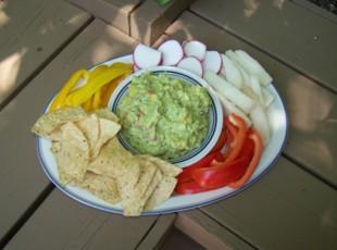 Roasted Corn with Cumin Guacamole Recipe