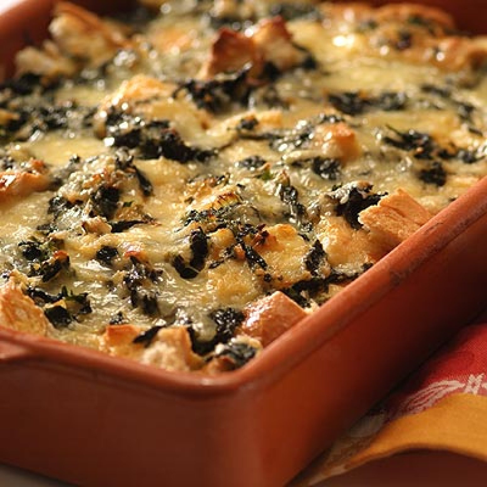 Spinach and Cheese Strata Recipe 2 | Just A Pinch Recipes