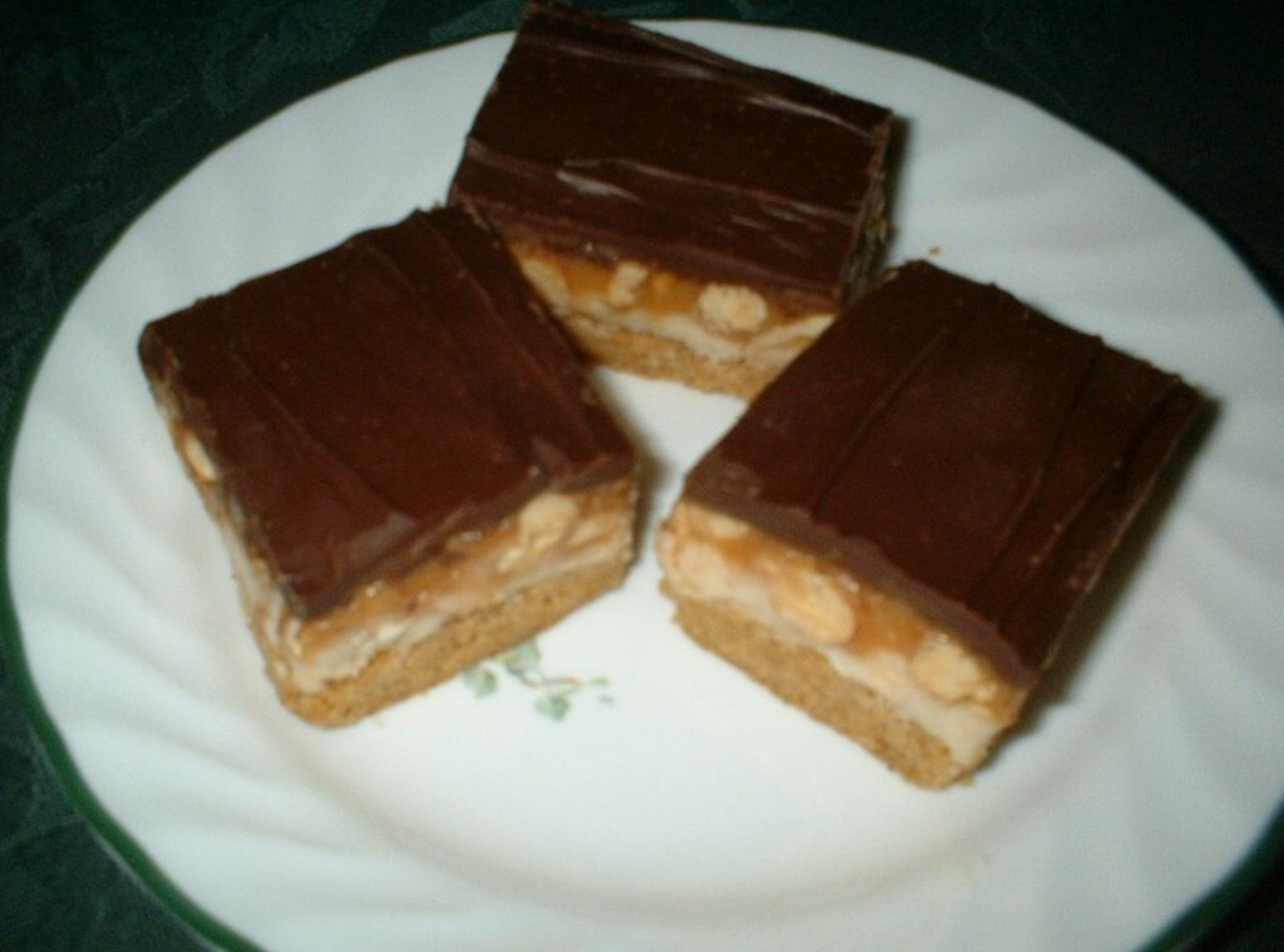Peanut Butter Cookie Candy Bars Recipe | Just A Pinch Recipes