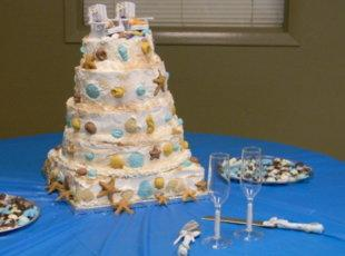 Beach wedding cake Recipe