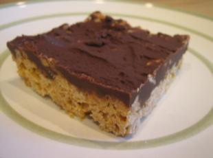 Chocolate Butterscotch Cereal Bars Recipe