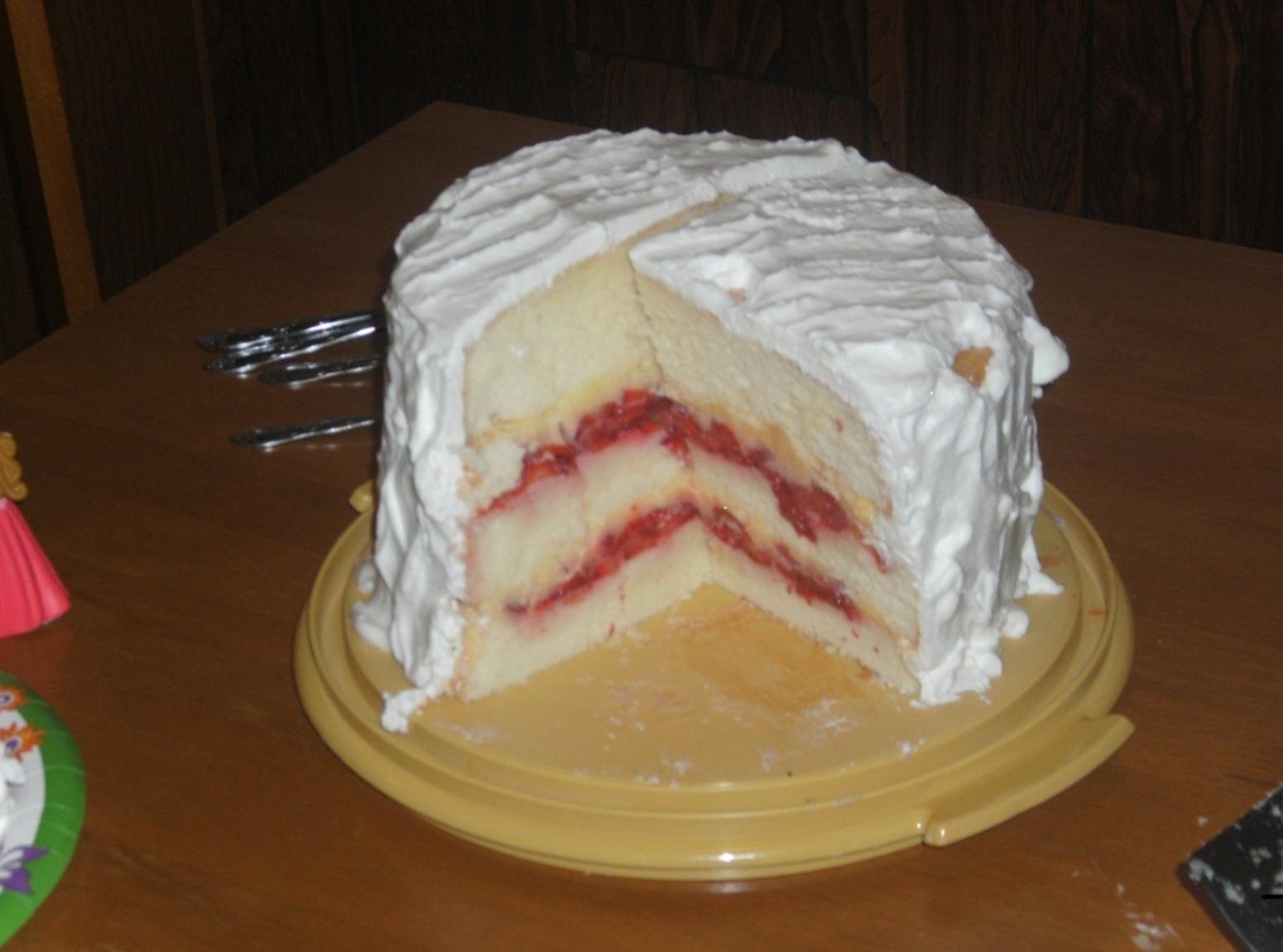 Strawberry Custard Cassata Cake Recipe