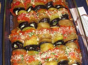 Spicy Chicken & Eggplant Roll Ups Recipe