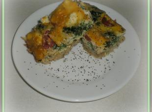 Brown Rice and Veggie Slice Recipe