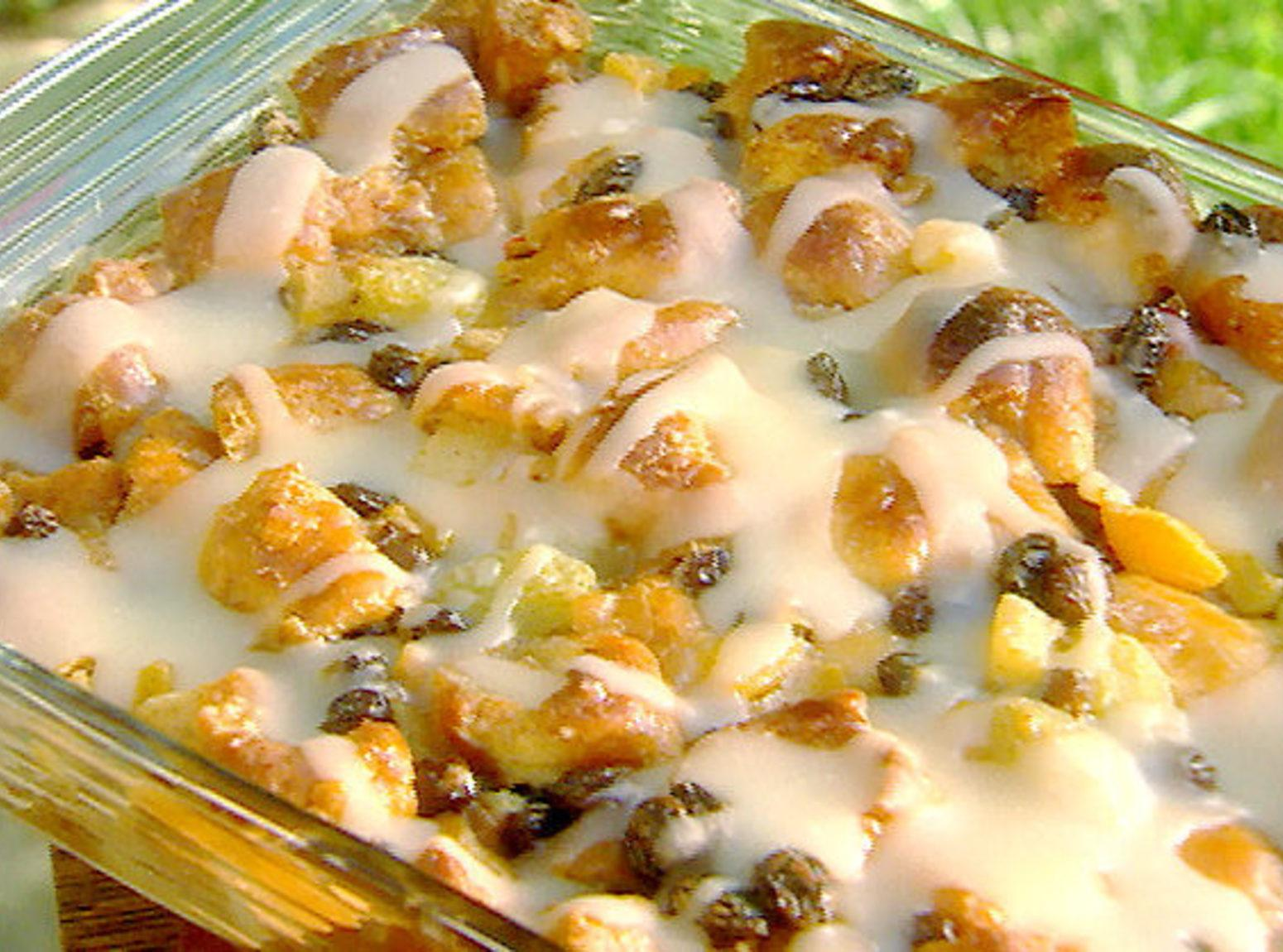 Krispy Kreme Bread Pudding with Rum Sauce Recipe | Just A Pinch ...