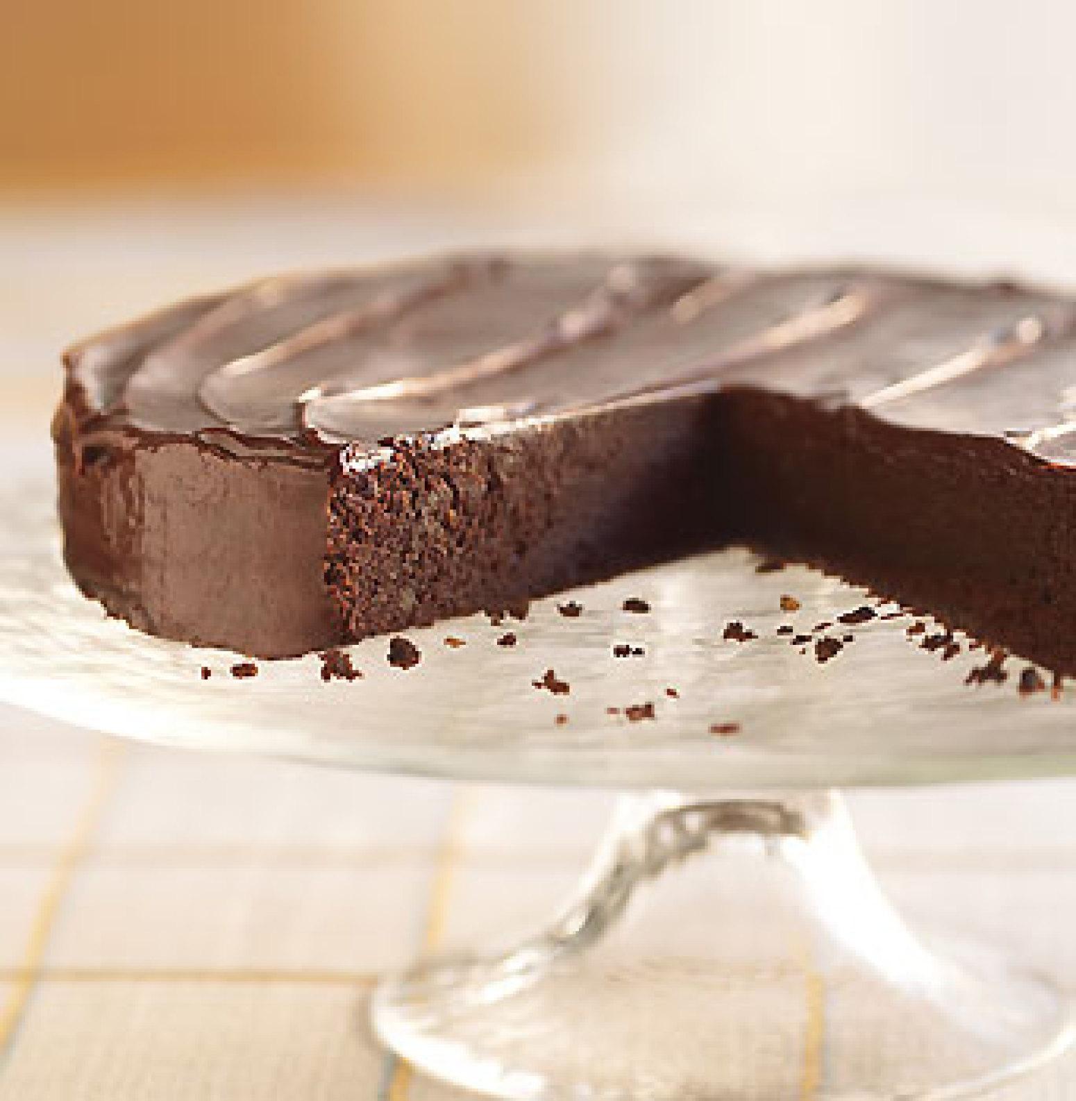 Bittersweet Chocolate Irish Whiskey Cake Recipe
