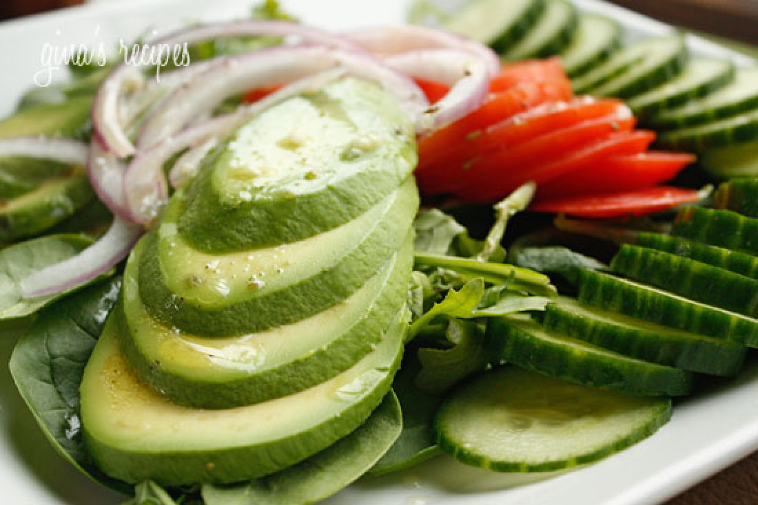 Avocado Salad with Citrus Vinaigrette Recipe | Just A Pinch Recipes