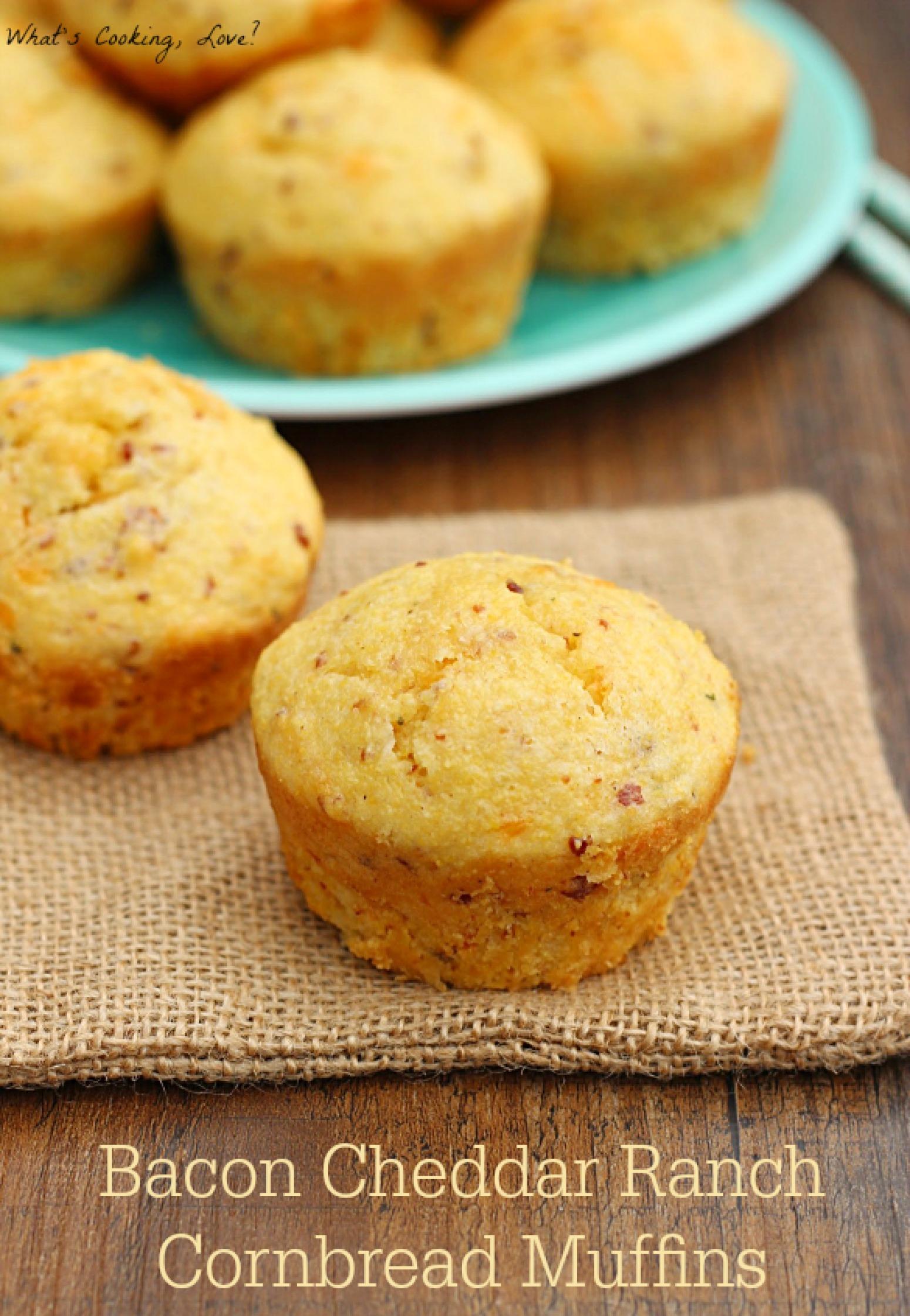 Bacon Cheddar Ranch Cornbread Muffins Recipe | Just A ...