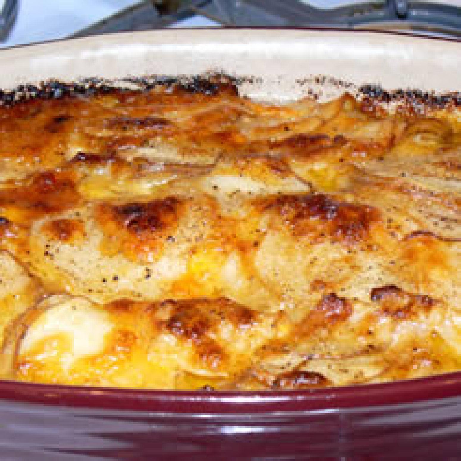 Stacey's Fabulous Purple Potato Gratin Recipe | Just A Pinch Recipes