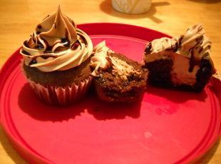 Chocolate Chip Peanut Butter Stuffed Cupcakes Recipe