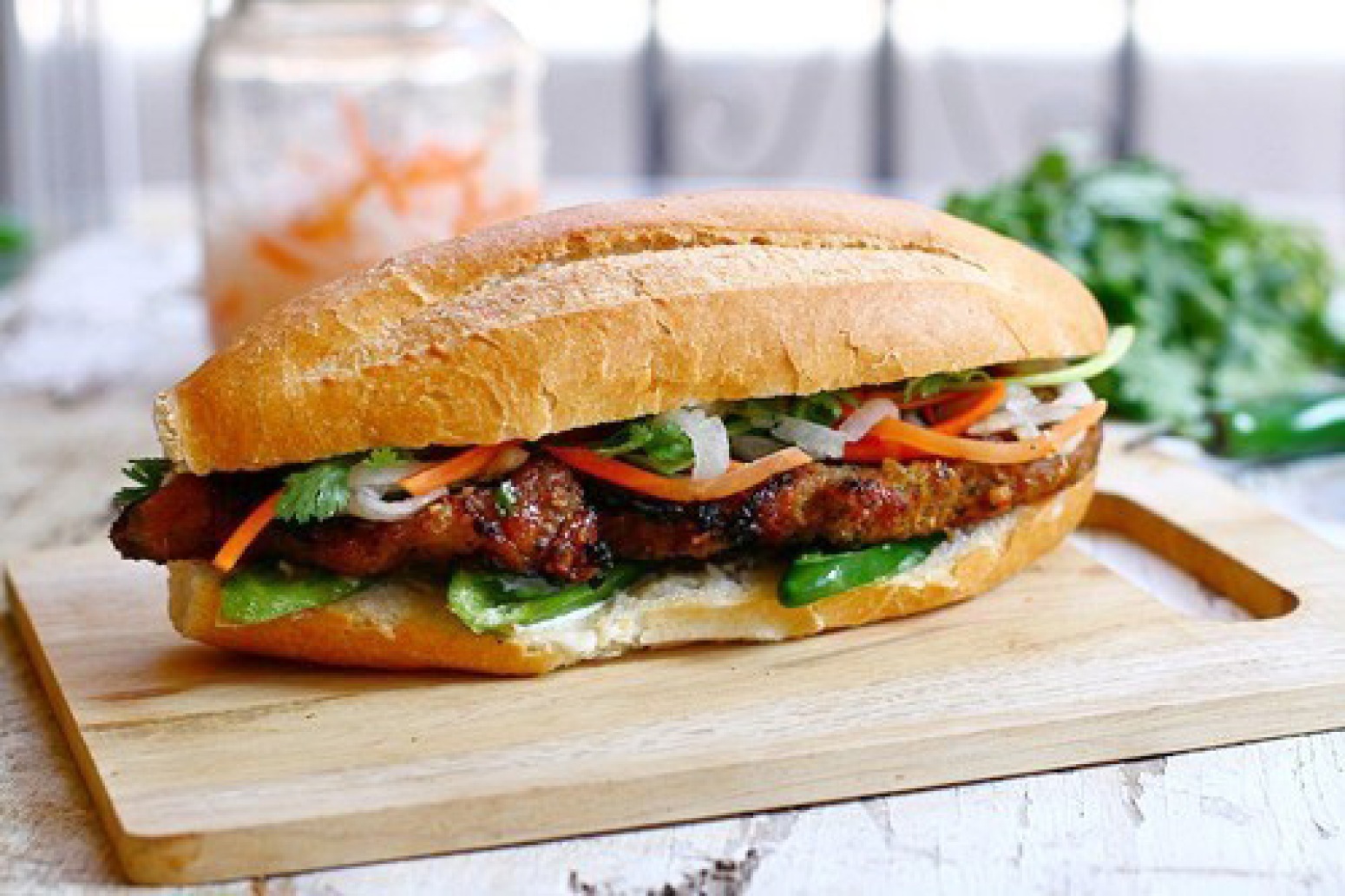 Banh Mi with Lemongrass Pork Recipe (Banh Mi Thit Noung) | Just A ...