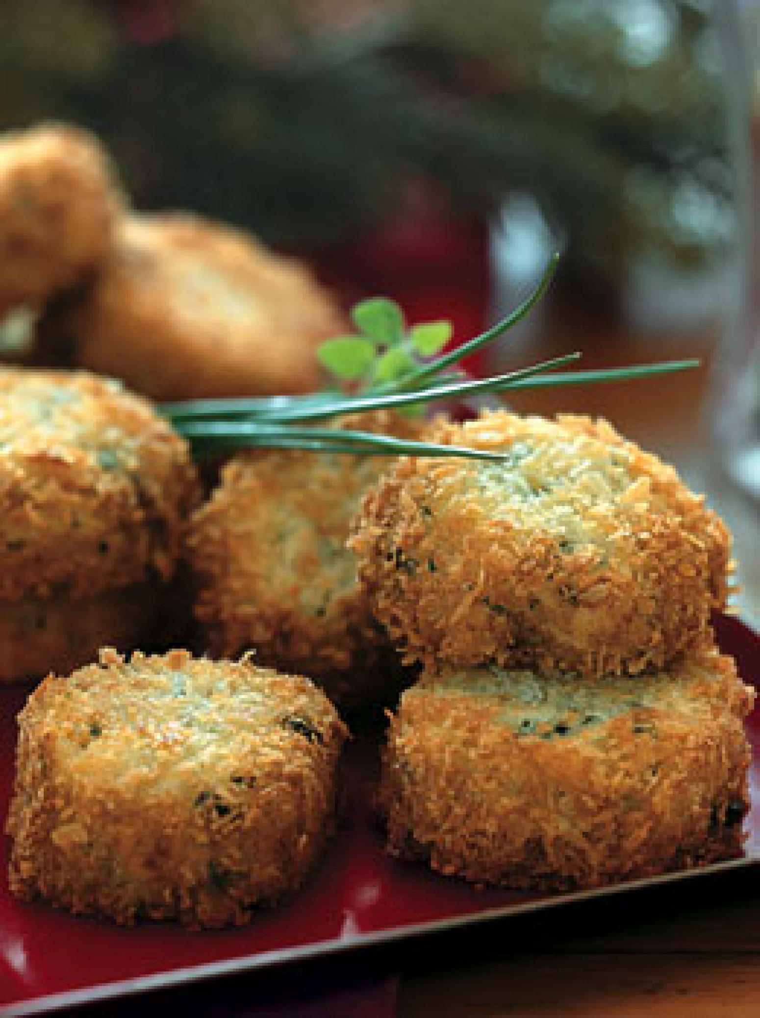 Fontina Risotto Cakes with Fresh Chives Recipe | Epicurious.com | Just ...