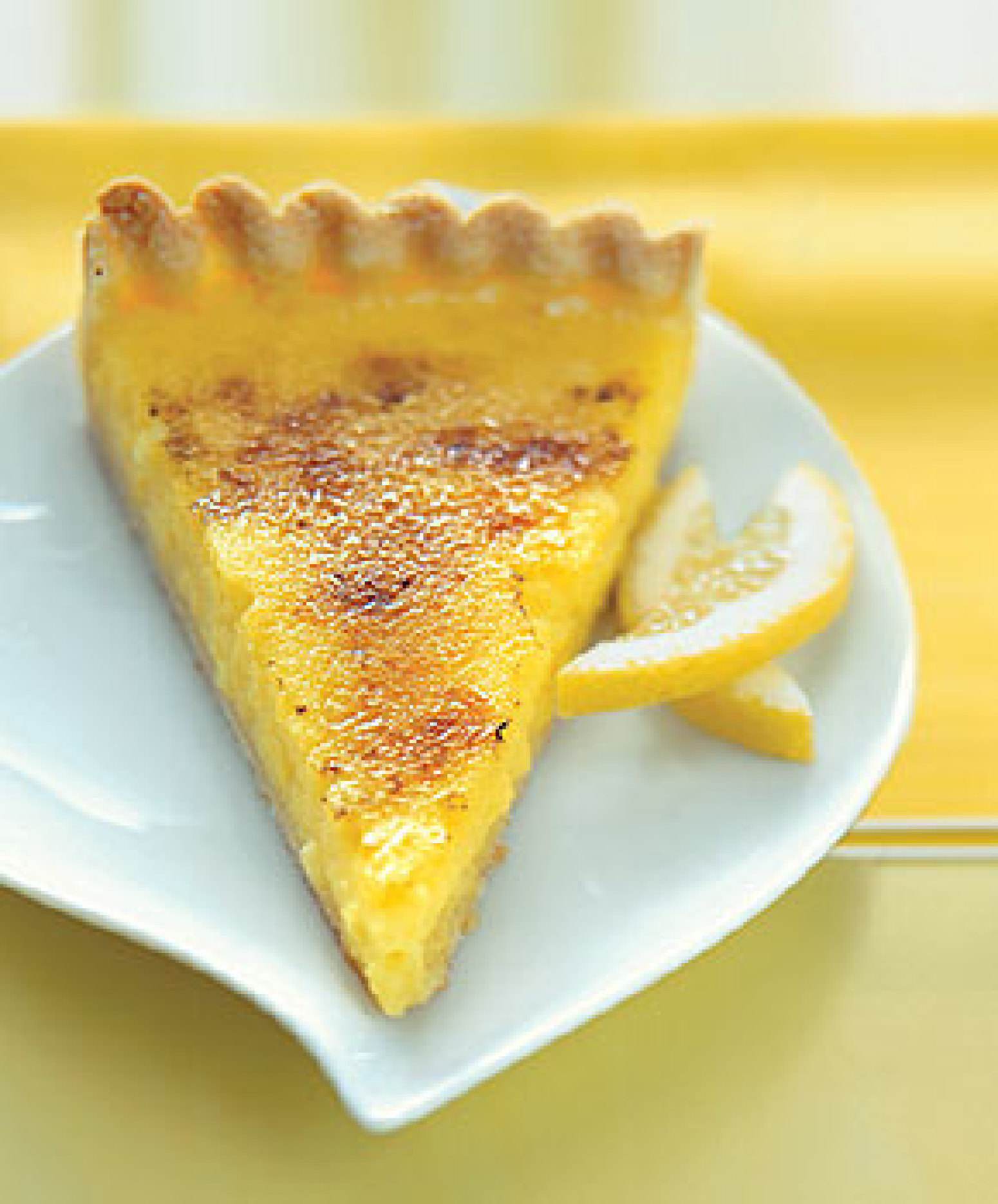 Lemon Crème Brûlée Tart Recipe | Epicurious.com | Just A Pinch ...