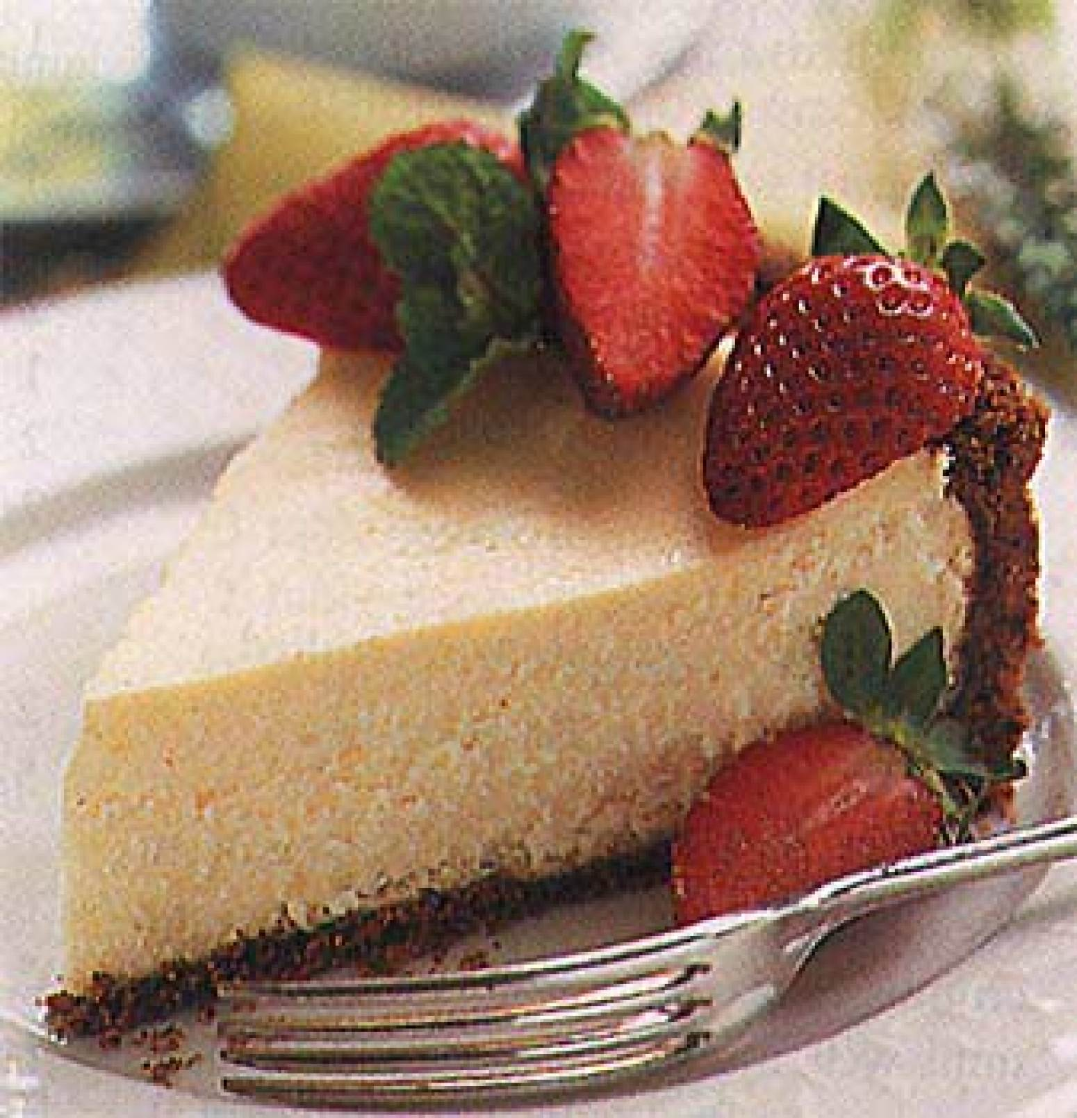 Strawberry Cheesecake with Gingersnap Crust Recipe | Epicurious.com ...