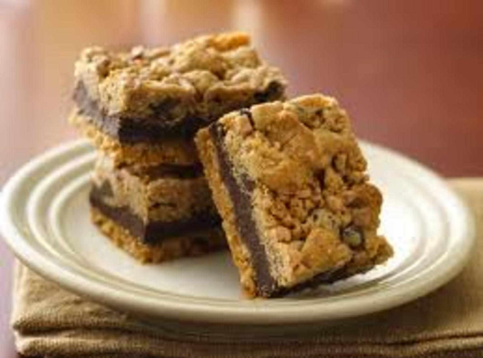 Chocolate Layered Toffee Bars Recipe