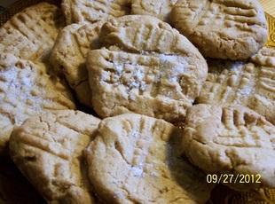 Poor mans` peanut butter cookies