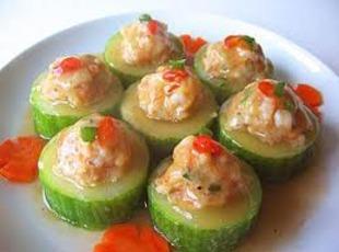 Cucumber Shrimp Snacks Recipe