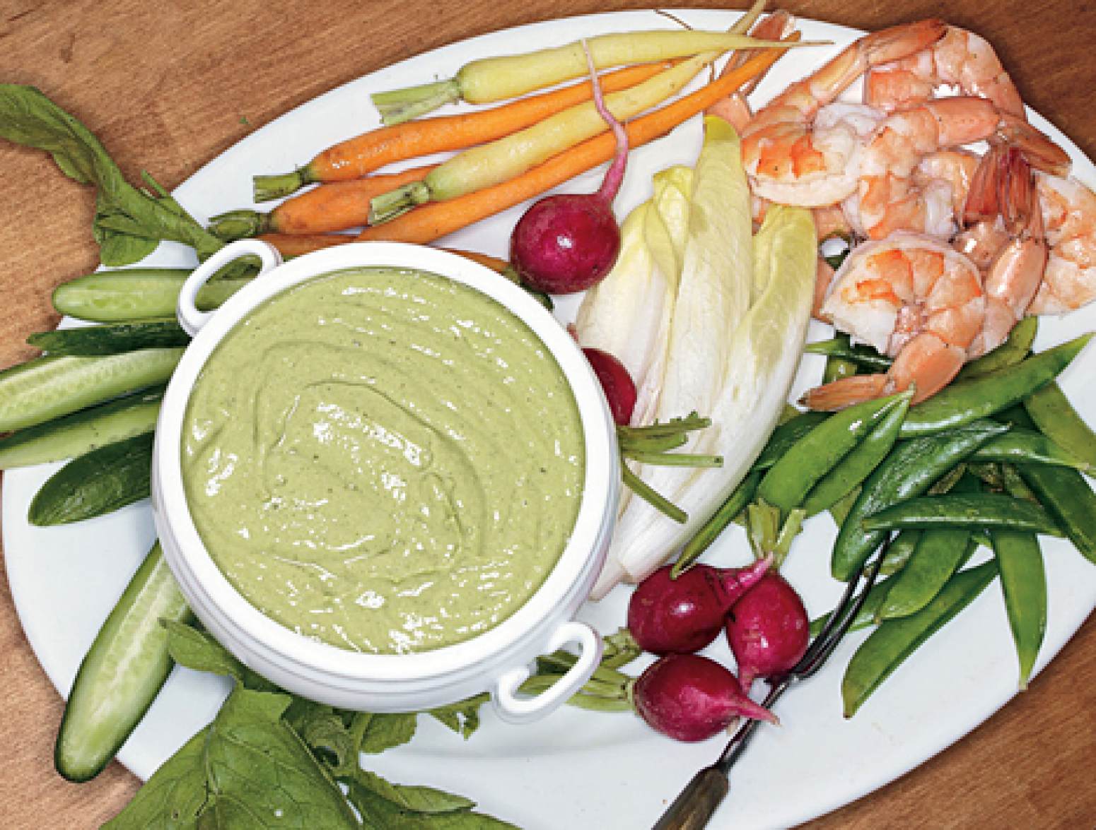 Crudits with Green Goddess Dip Recipe Epicuriouscom | Just ...