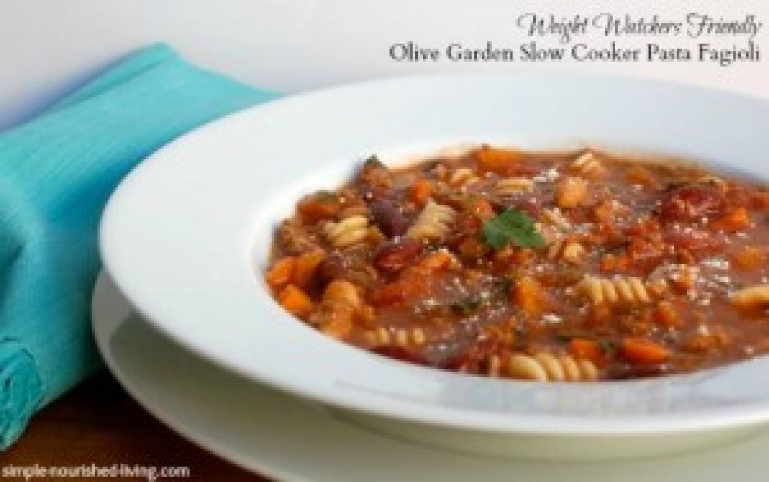 Olive Garden Slow Cooker Pasta Fagioli Recipe Just A Pinch Recipes