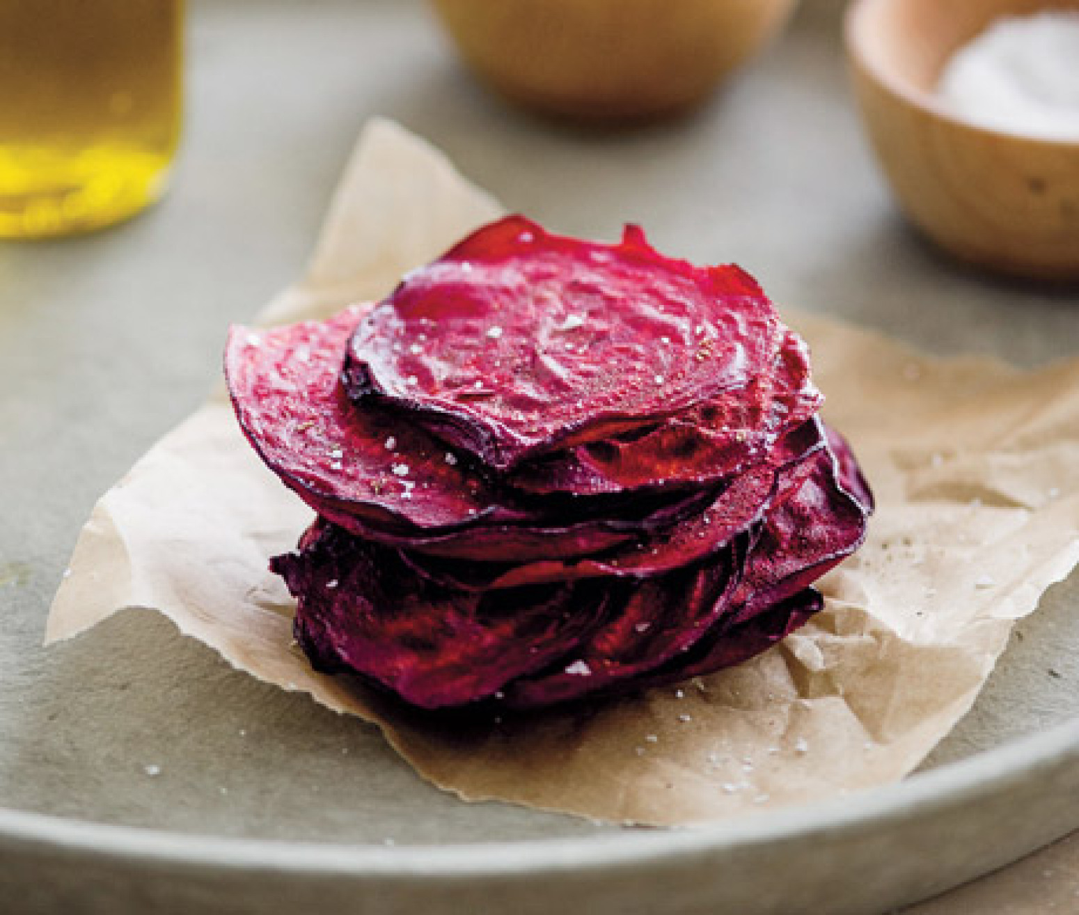 Olive Oil-Baked Beet Chips With Sea Salt And Black Pepper Recipe ...