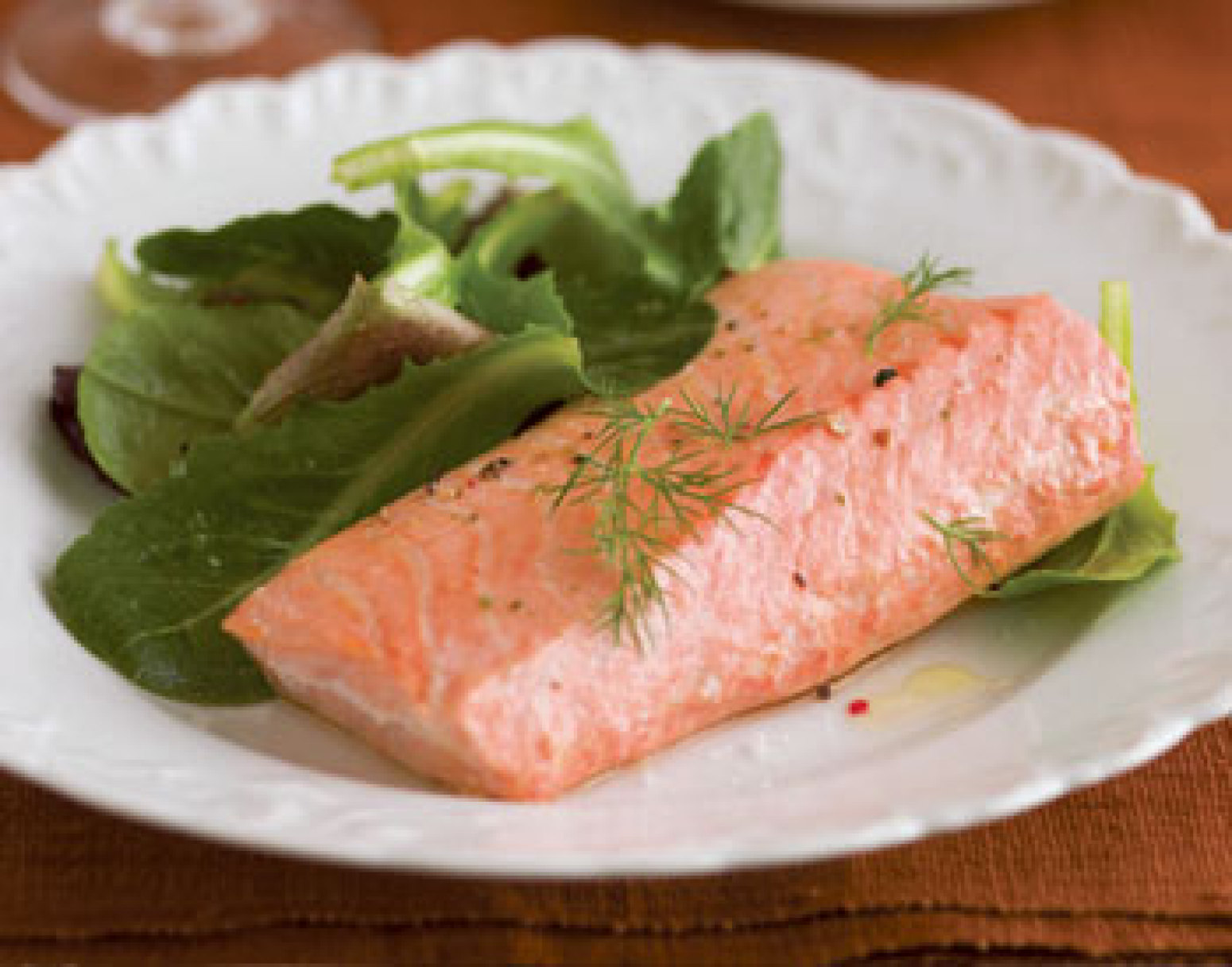 Simple Poached Salmon Recipe | Epicurious.com | Just A Pinch Recipes