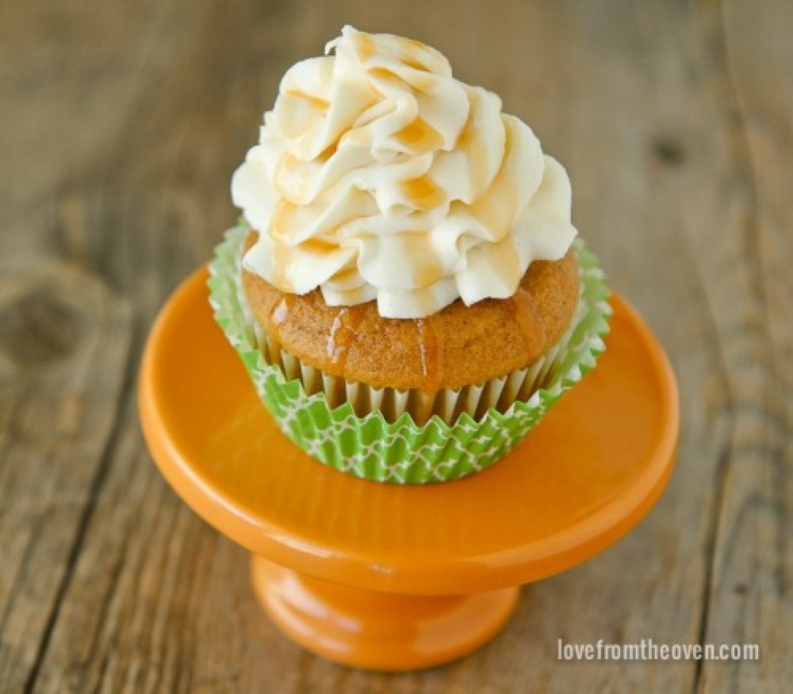 Pumpkin Cupcakes With Caramel Cream Cheese Frosting Recipe | Just A ...