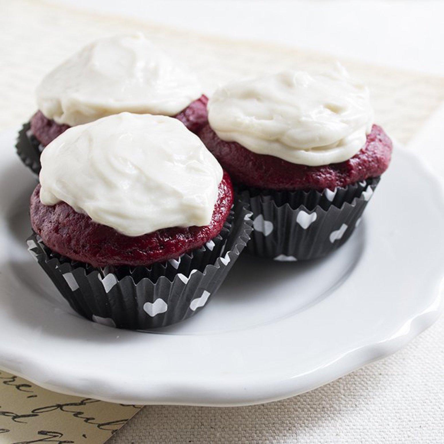 Skinny Mini Red Velvet Cupcakes Recipe | Just A Pinch Recipes