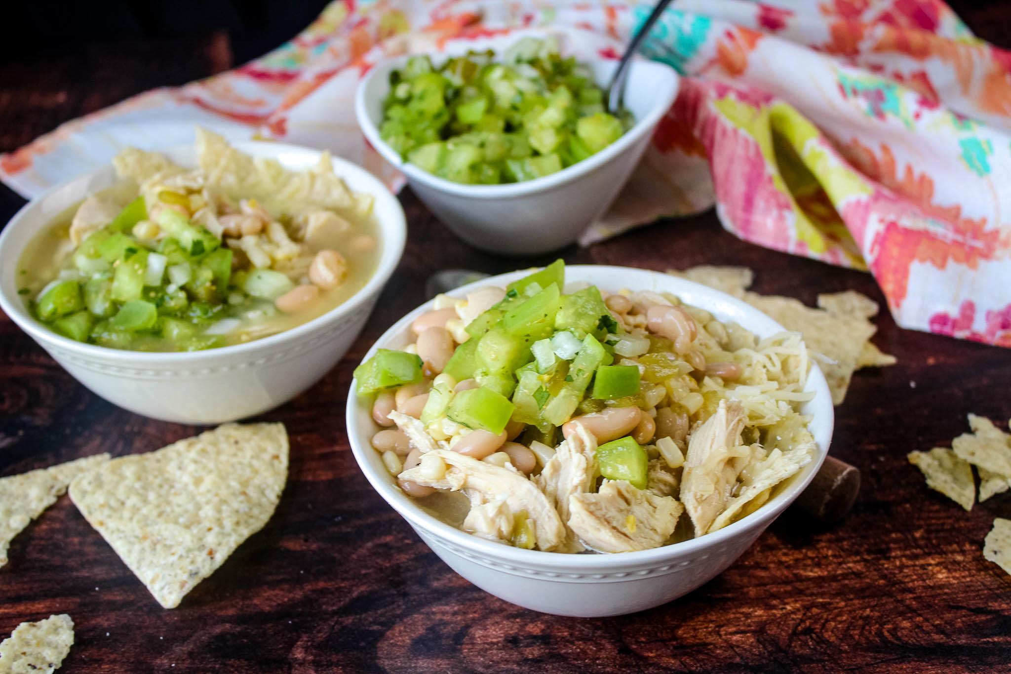 White Chicken Chili with Salsa Verde Recipe