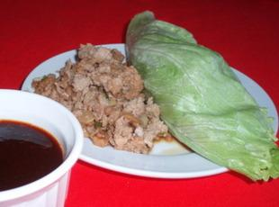 Low Carb Low Fat Asian Lettuce Wraps with Dipping Sauce Recipe
