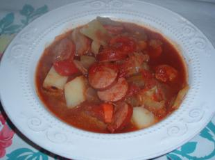 Cabbage and Sausage Soup Recipe