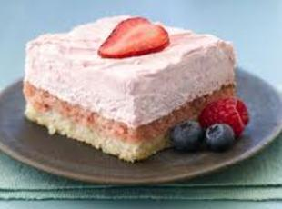 Strawberry Cream Squares Recipe