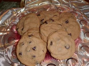 Nutty Chocolate Chip Malt Cookies