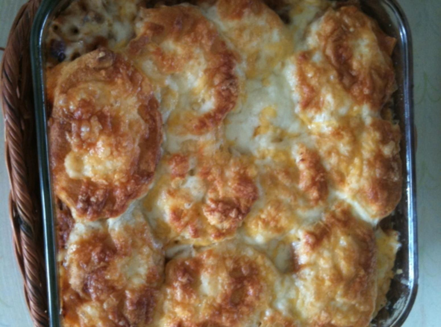 Beef and Biscuit Casserole Recipe 2 | Just A Pinch Recipes