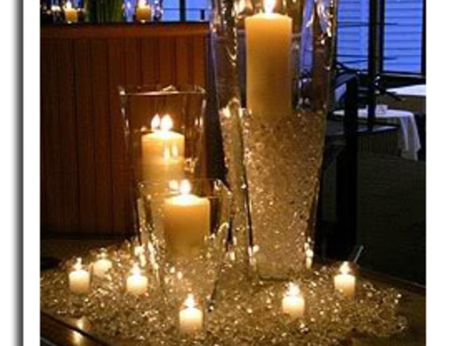 Sparkling diamond themed candle centerpiece recipe just
