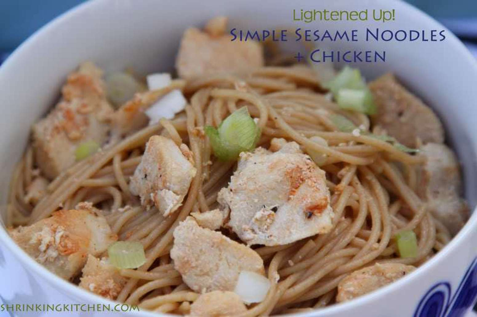 Lightened Up {Pioneer Woman} Simple Sesame Noodles Recipe | Just A ...