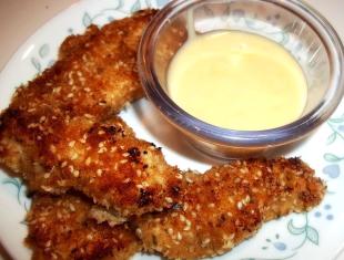 ~ Sesame Chicken W/ Honey Mustard Sauce ~ Recipe