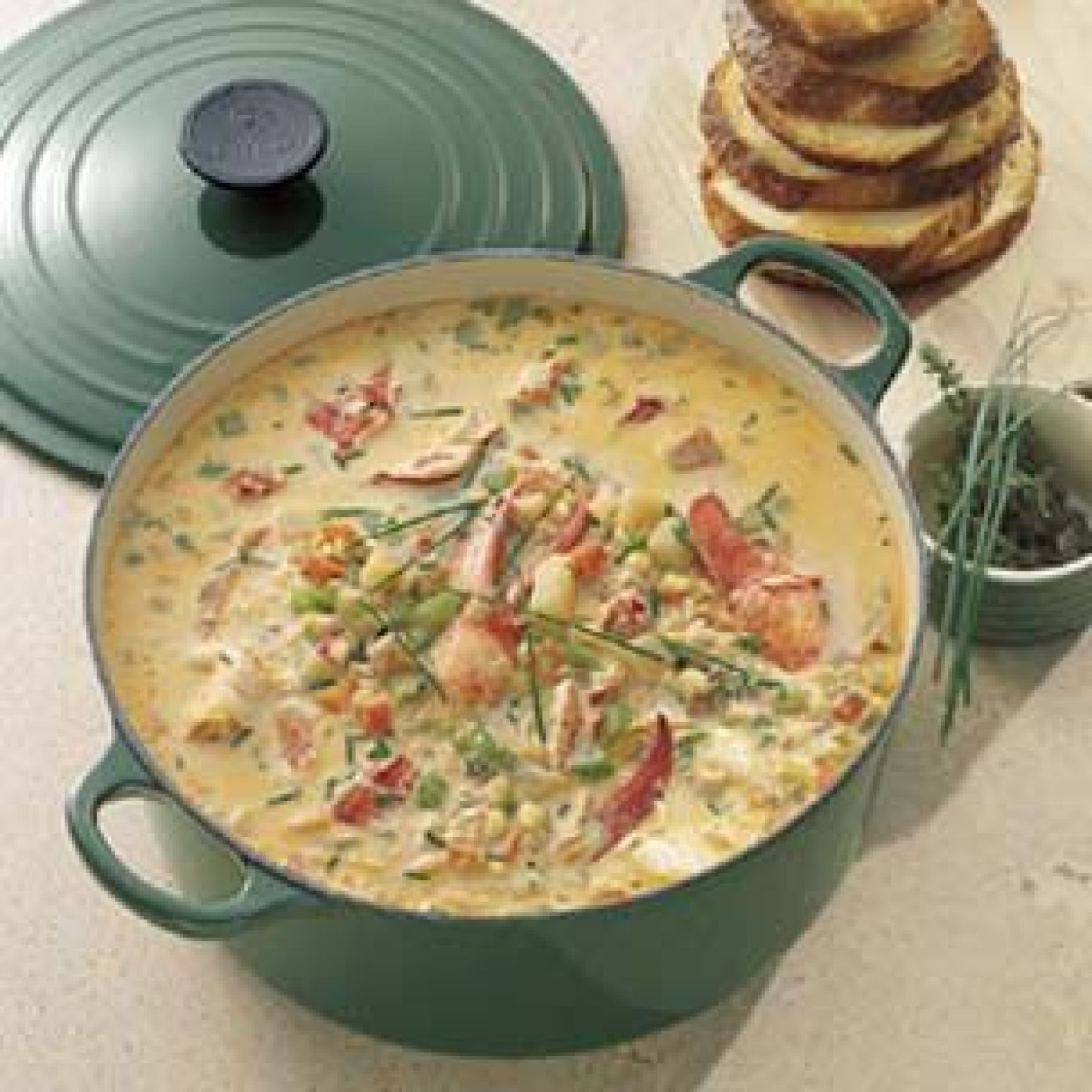 Lobster and Corn Chowder Recipe | Just A Pinch Recipes