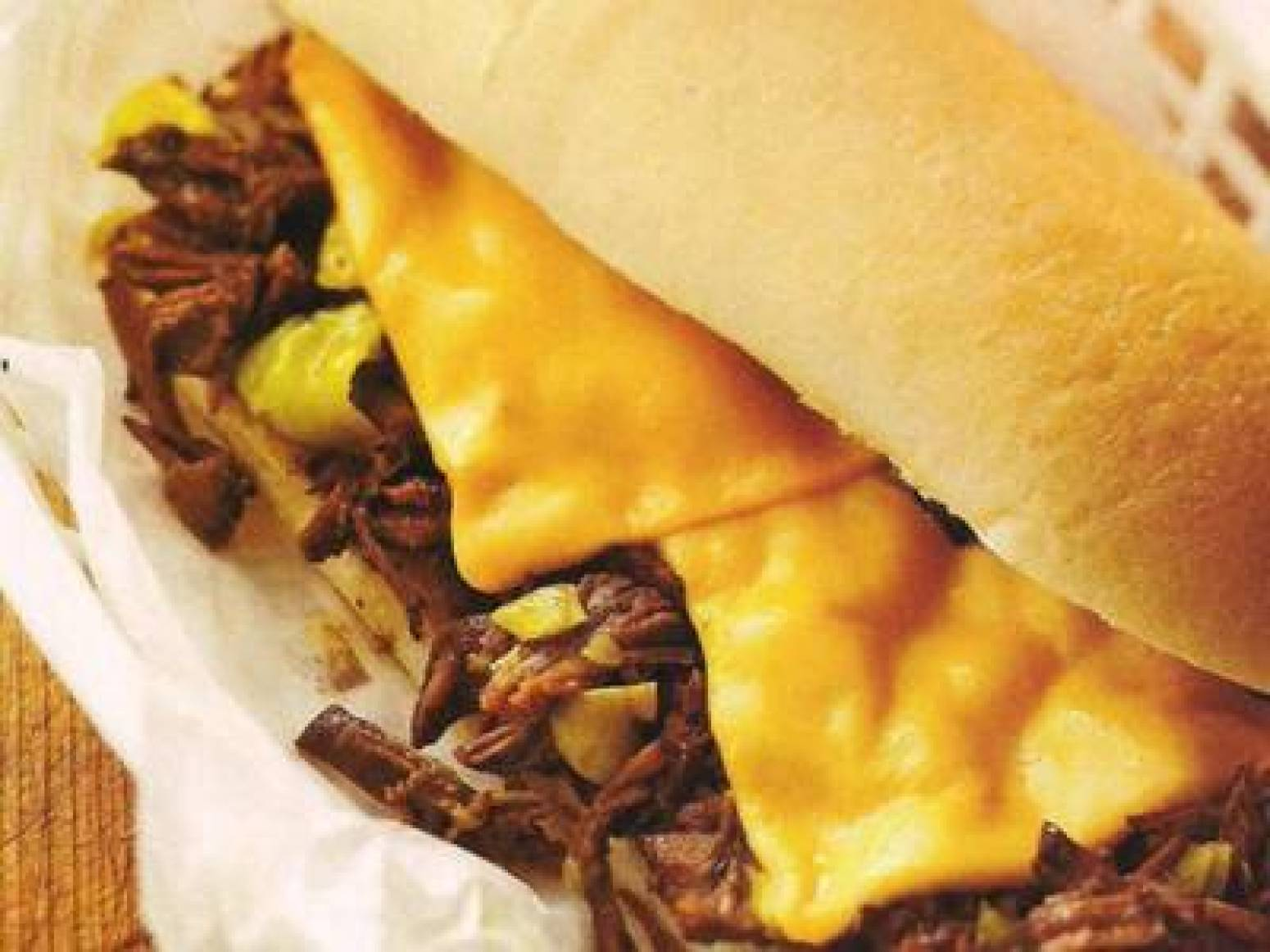 Philly Cheese Pot Roast Sandwiches Recipe