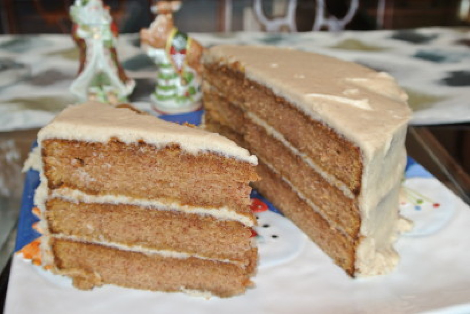 Pumpkin Spice Layer Cake with Eggnog Cinnamon Buttercream Recipe ...