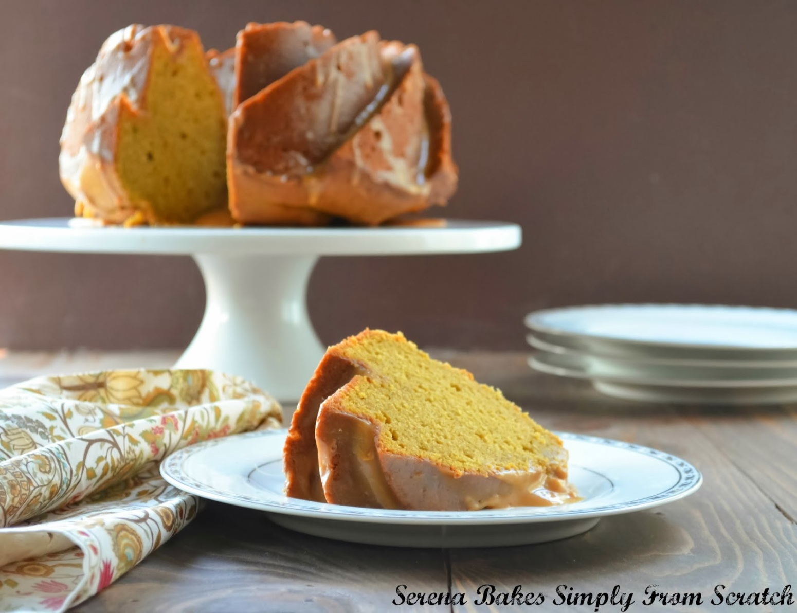 Pumpkin Spice Bundt Cake With Caramel Icing Recipe 2 | Just A Pinch ...