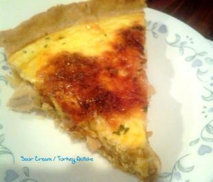 ~ Turkey ~ Cheese & Sour Cream Quiche ~ Recipe