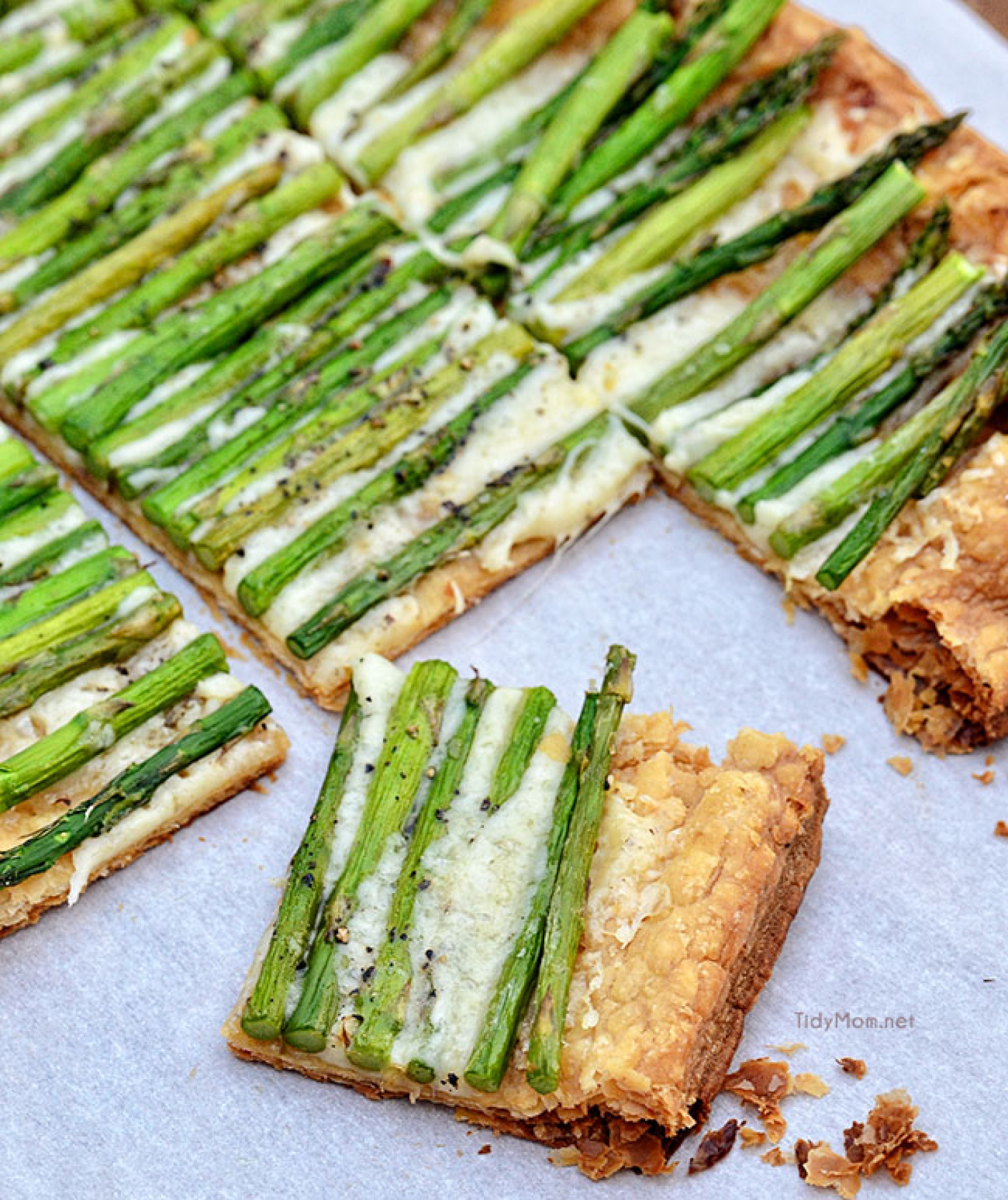 Asparagus and Gruyere Tart Recipe 2 | Just A Pinch Recipes