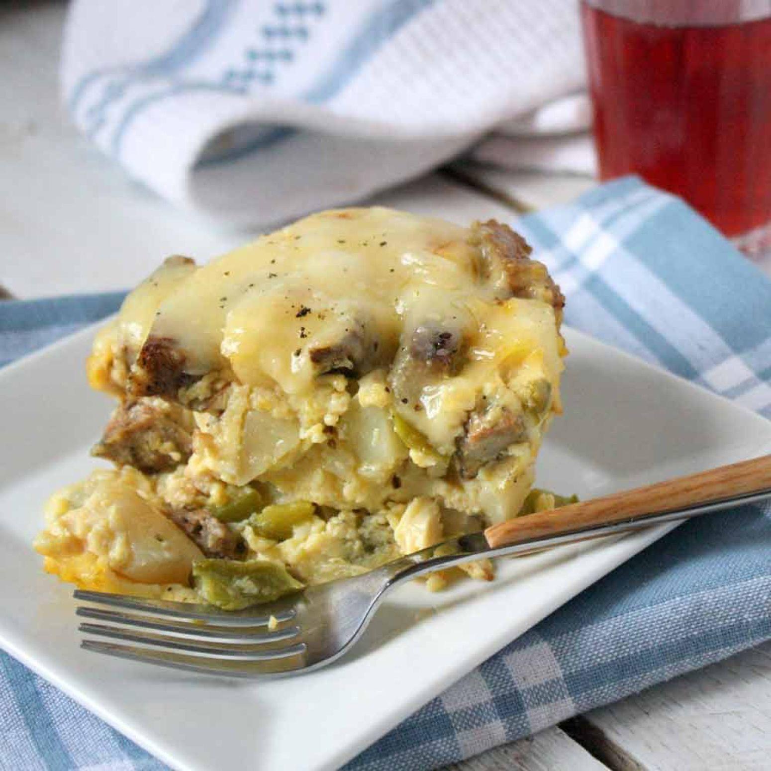 Slow cooker breakfast casserole recipe 7 just a pinch for Slow cooker breakfast recipes for two