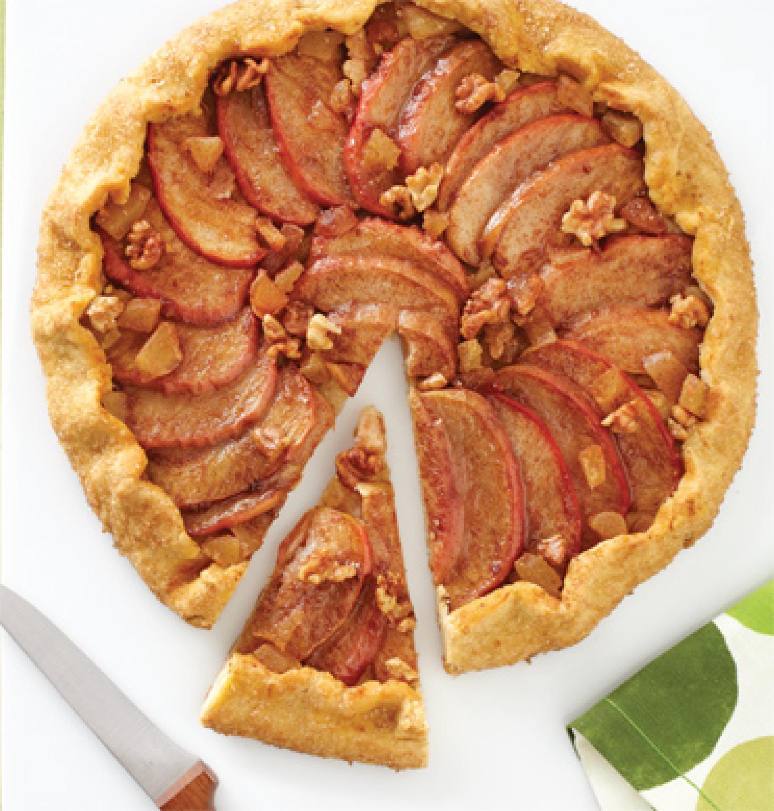 Apple-Walnut-Ginger Galette Recipe | Epicurious.com